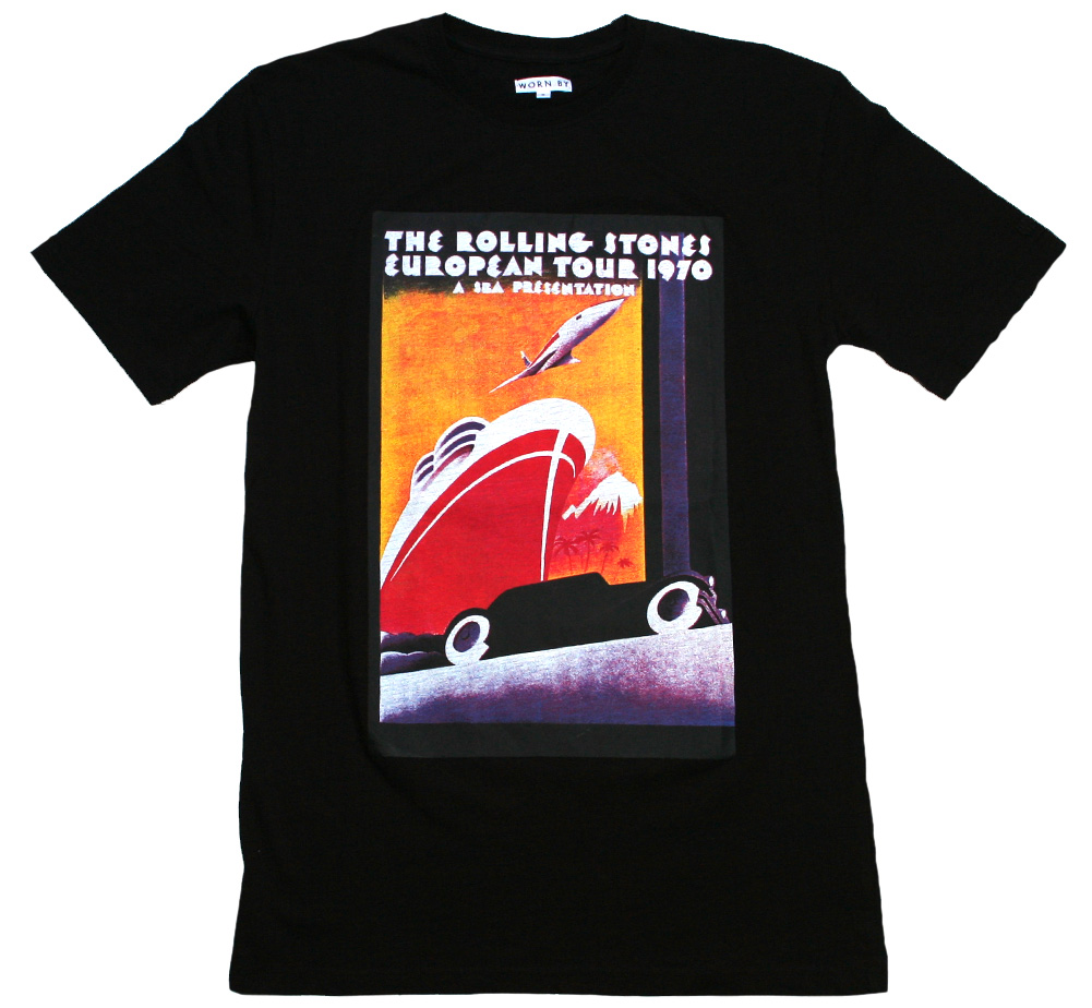 【Worn By】 The Rolling Stones / European Tour 1970 Poster Tee (Black)