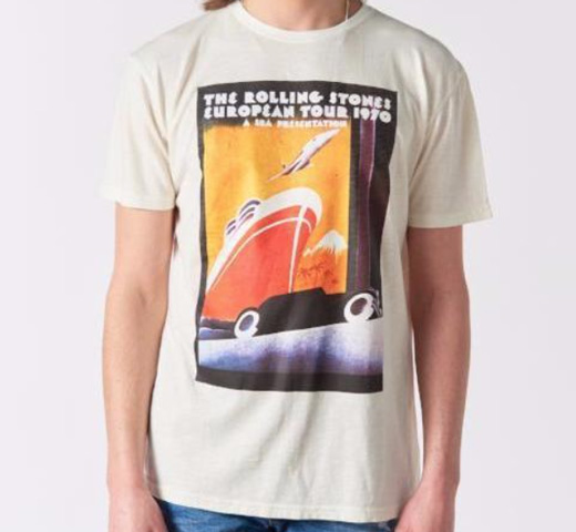 【Worn By】 The Rolling Stones / European Tour 1970 Poster Tee (Ecru)