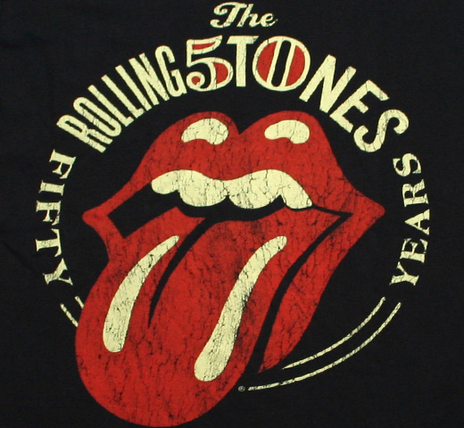 The Rolling Stones / 50th Anniversary Tee 2 (Black)
