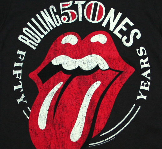 The Rolling Stones / 50th Anniversary Tee (Vintage Black)