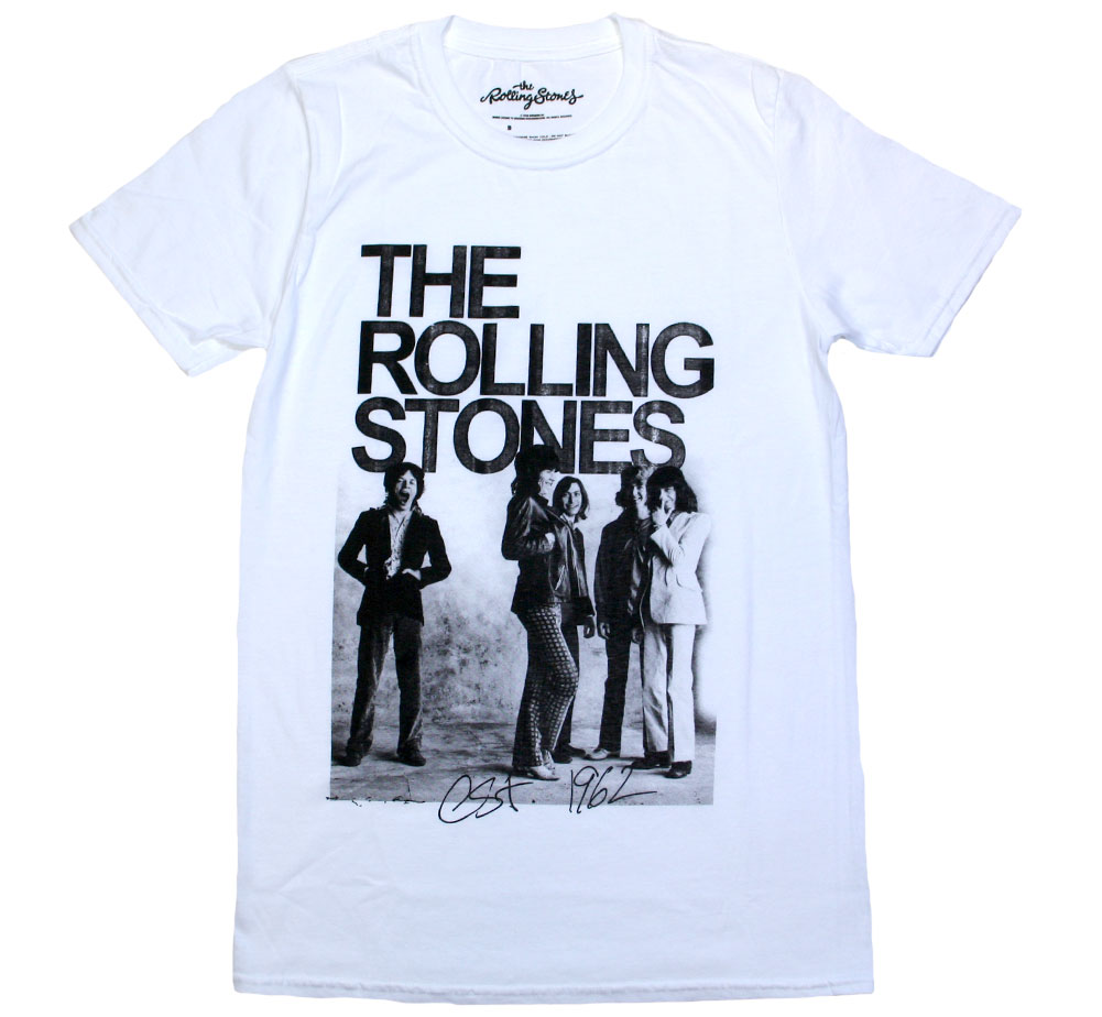 The Rolling Stones / Est. 1962 Group Photo Tee (White)