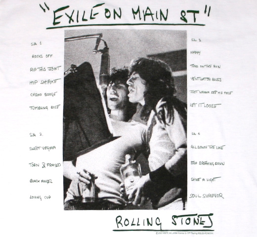 The Rolling Stones / Exile On Main St Tee (Green)