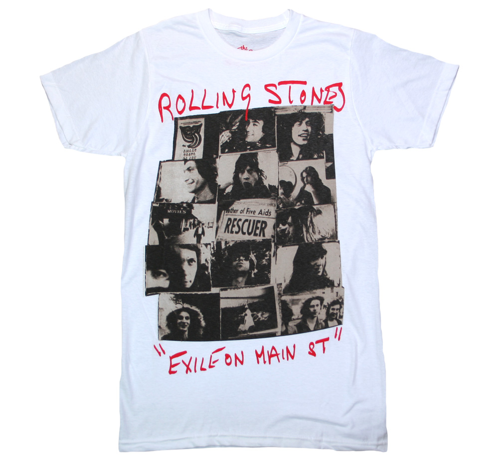 The Rolling Stones / Exile on Main St. Tee 3 (White)