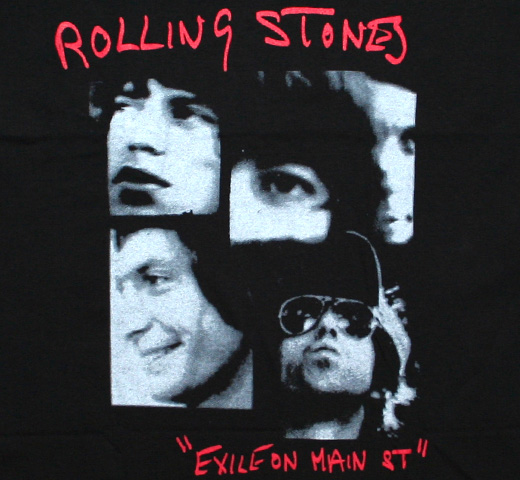 The Rolling Stones / Exile on Main St. Tee 2 (Black)