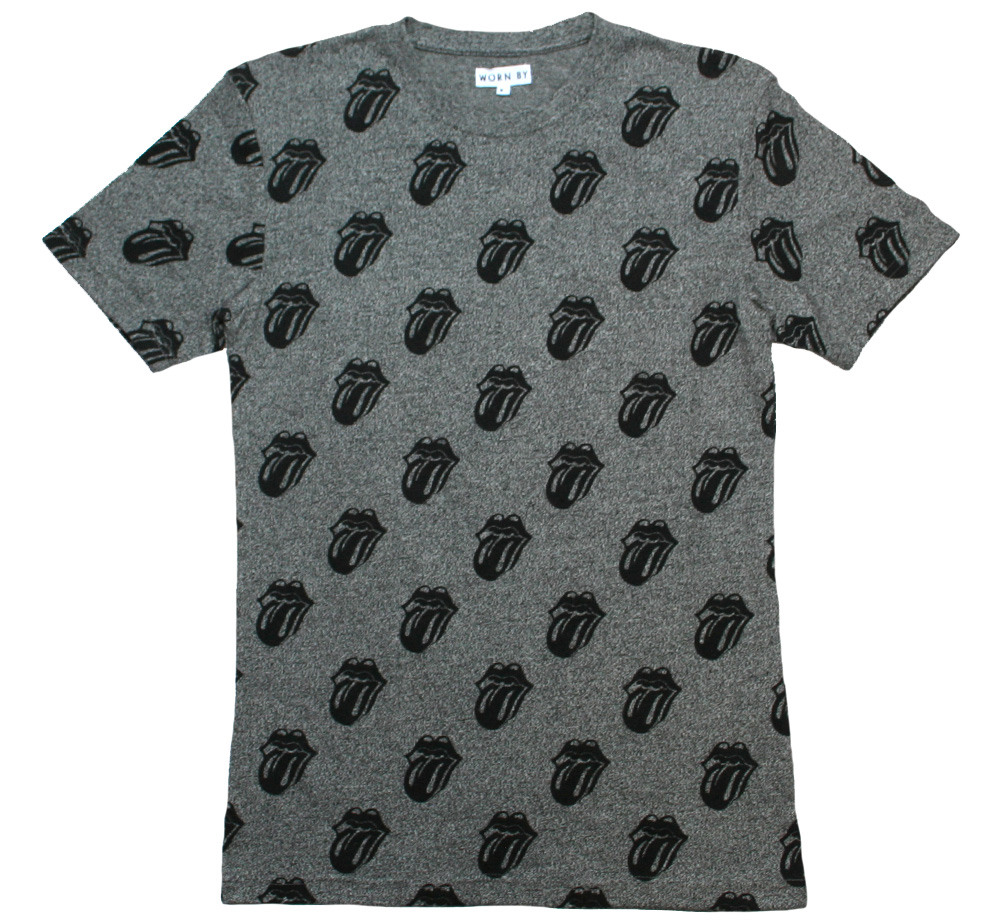 【Worn By】 The Rolling Stones / Licks AOP Tee (Flint Grey)