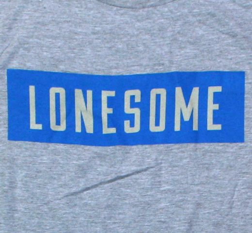 The Rolling Stones / Lonesome Block Text Tee (Grey)