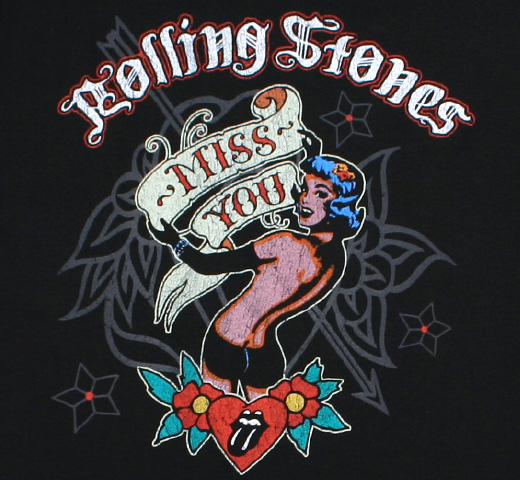 The Rolling Stones / Miss You Tee (Black)