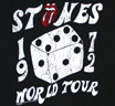 The Rolling Stones / 1972 World Tour Tee (Vintage Black)