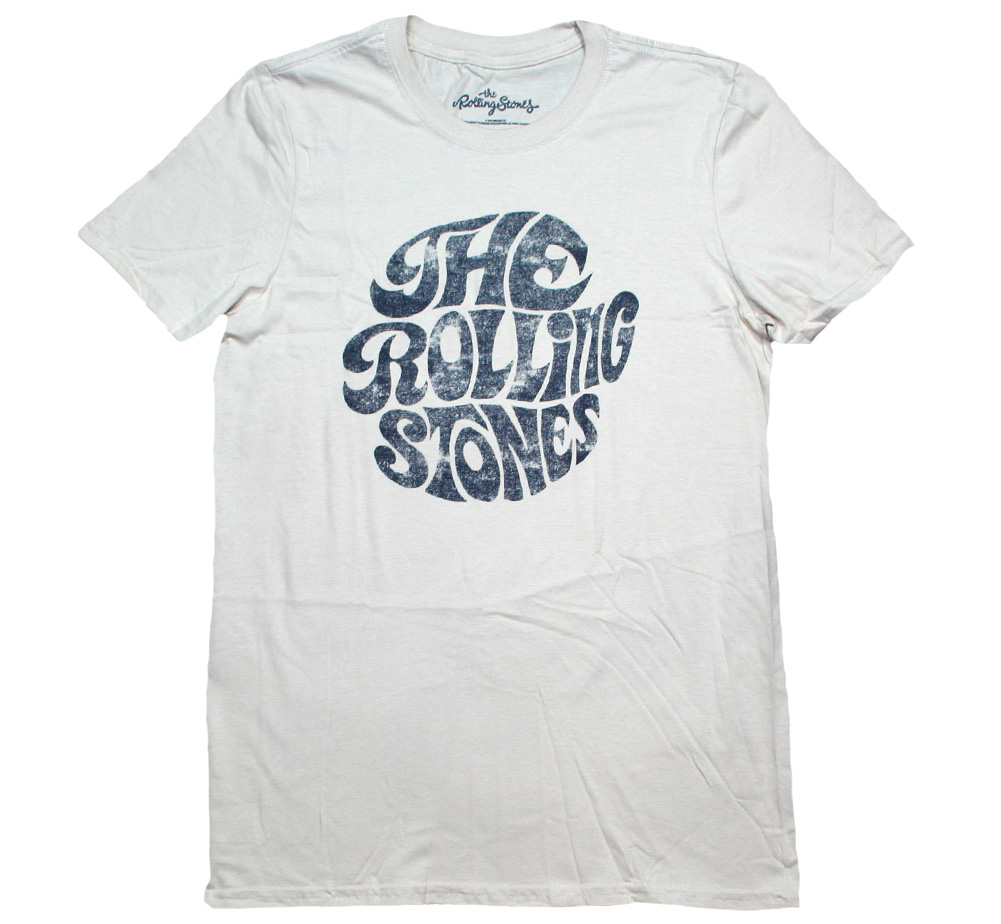 The Rolling Stones / Vintage 1970s Logo Tee (Sand)