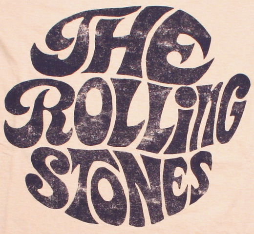 The Rolling Stones / Vintage 1970s Logo Tee 2 (Sand)