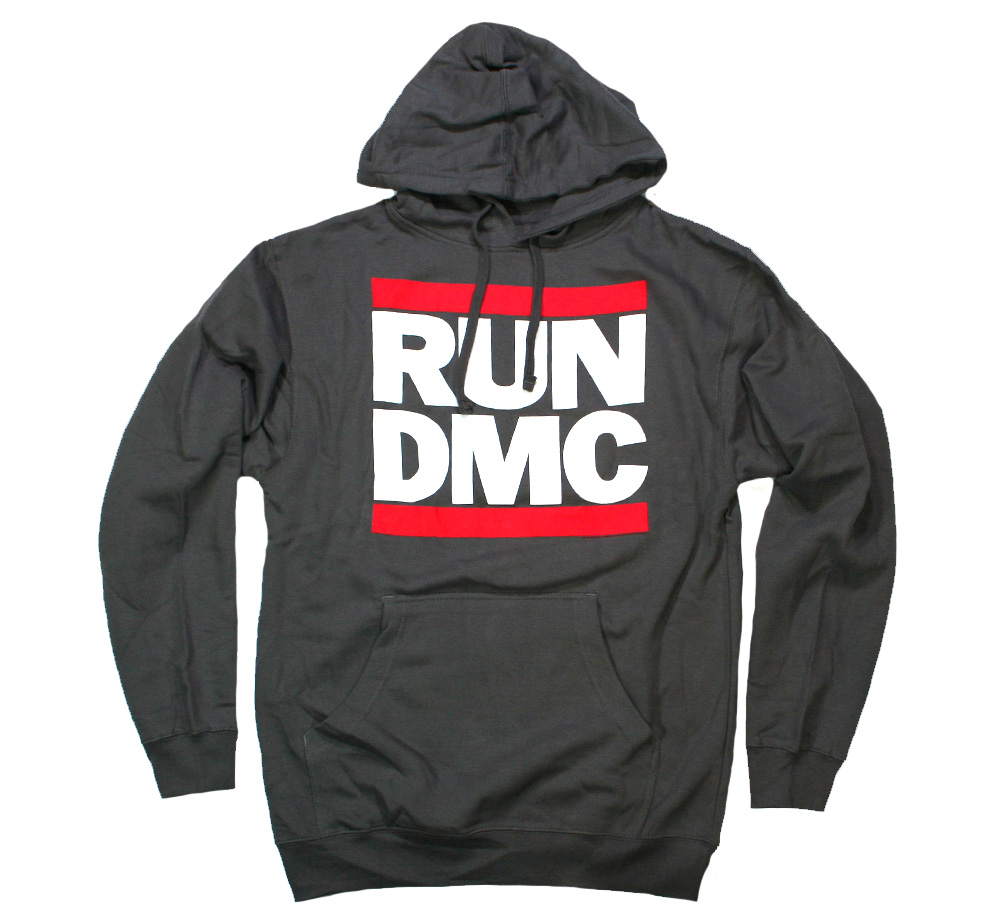 RUN DMC / Logo Hoodie (Charcoal Grey)