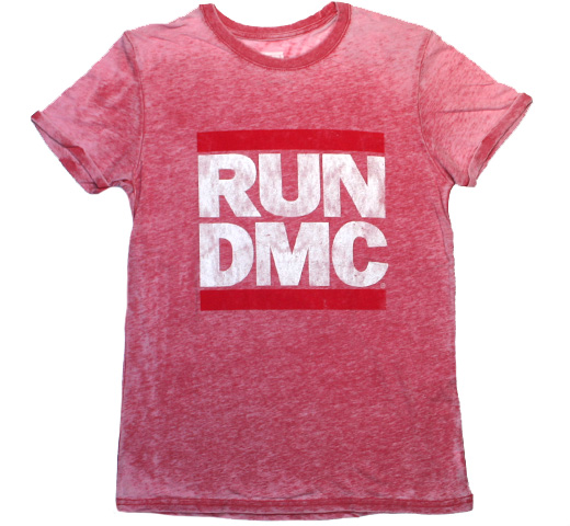 RUN DMC / Logo Tee (Vintage Red)