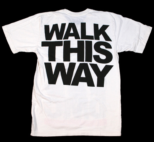 RUN DMC / Walk This Way Tee (White)