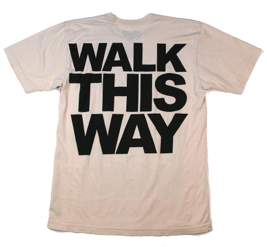 RUN DMC / Walk This Way Tee (Beige)