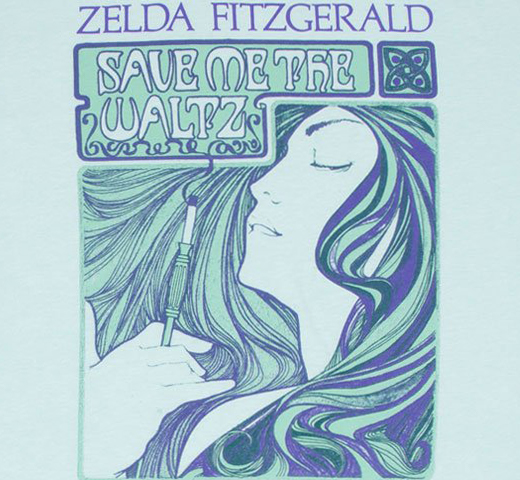 [Out of Print] Zelda Sayre Fitzgerald / Save Me the Waltz Tee (Ice Blue)