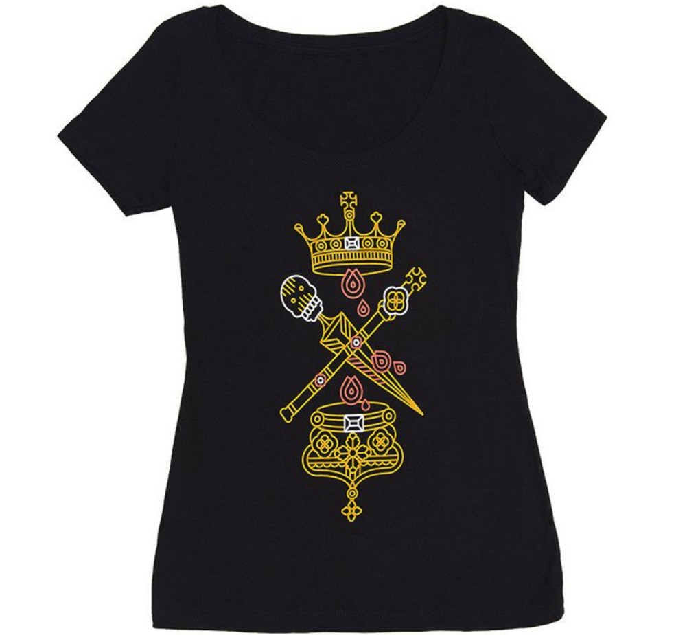 【Out of Print】 William Shakespeare / Macbeth Scoop Neck Tee (Black) (Womens)