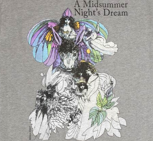 【Out of Print】 William Shakespeare / A Midsummer Night's Dream Tee (Dark Heather Grey)