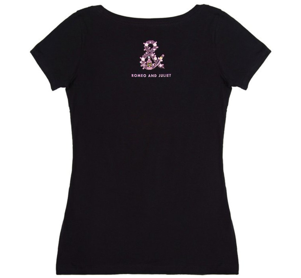 【Out of Print】 William Shakespeare / Romeo and Juliet Scoop Neck Tee (Black) (Womens)
