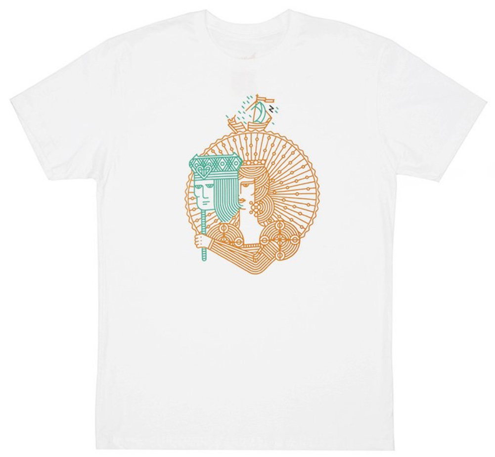 【Out of Print】 William Shakespeare / Twelfth Night Tee (White)