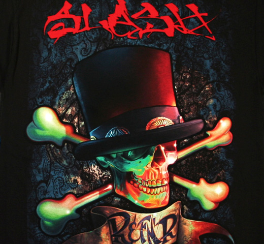 Slash / 'RnFNR Album Art' Red Tee (Black)