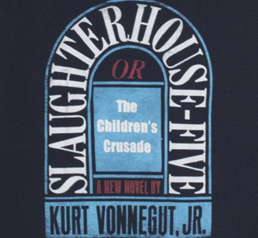 【Out of Print】 Kurt Vonnegut / Slaughterhouse-Five Tee (Midnight Navy) (Womens)