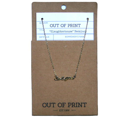 【Out of Print】 So it goes. Necklace (Slaughterhouse-Five)