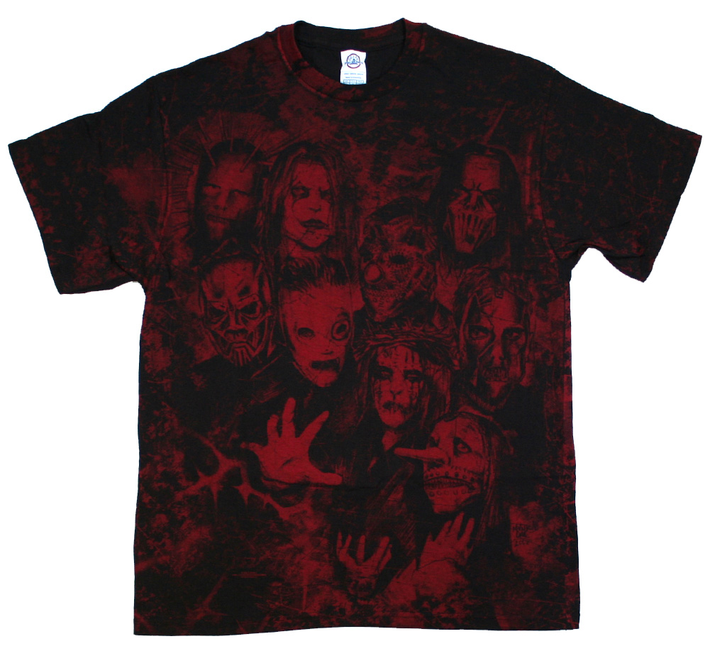 SlipKnoT / Thorns All Over Tee (Black/Red)