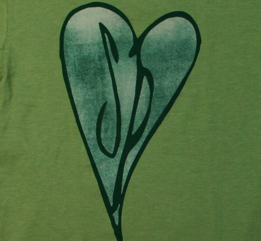 The Smashing Pumpkins / Heart Logo Tee (Light Green Ringer)