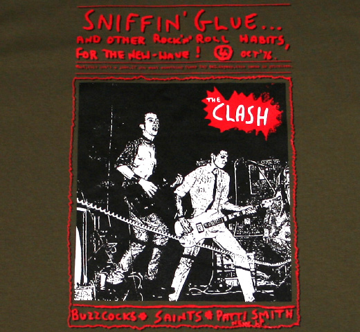 Sniffin' Glue / 4 Oct '76 The Clash Tee