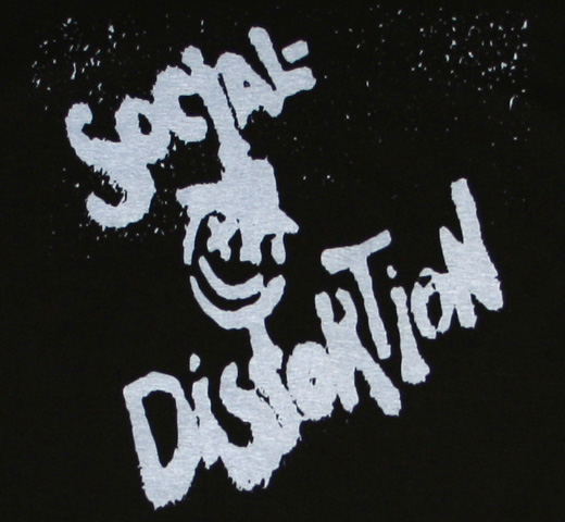 Social Distortion / X Face Fitted Tee (Black)
