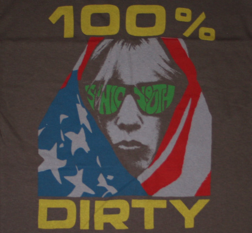 Sonic Youth / 100% Dirty Tee (Charcoal Gray)