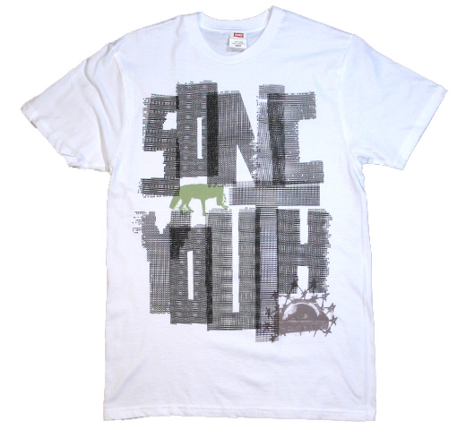 Sonic Youth / Poem Tee (White)