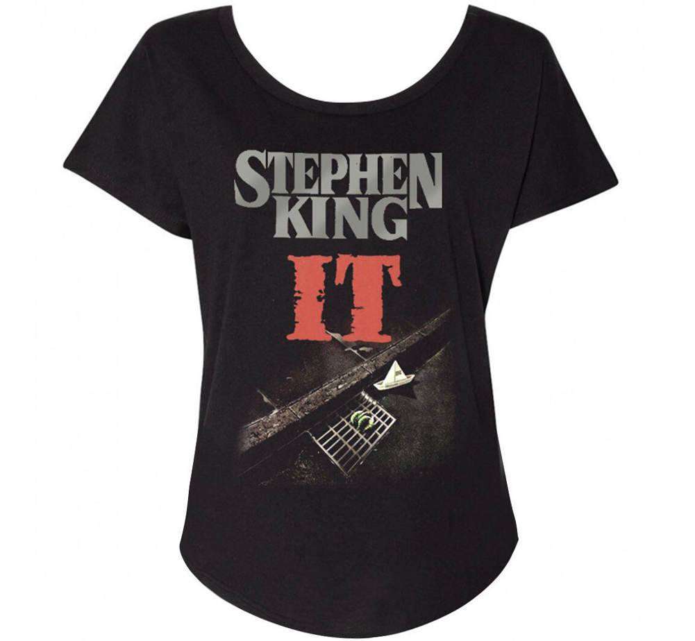 [Out of Print] Stephen King / It Womens Relaxed Fit Tee (Black)