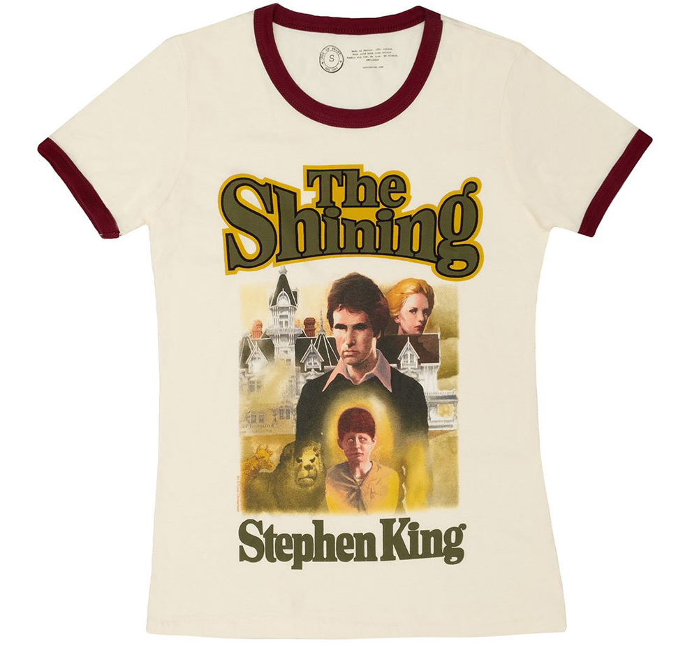 [Out of Print] Stephen King / The Shining Womens Ringer Tee (Vintage White)
