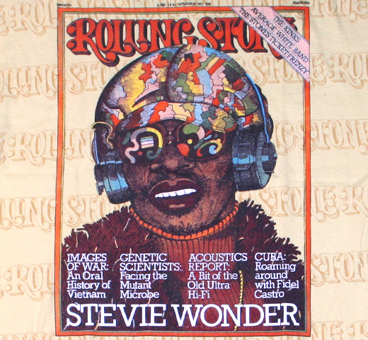 【Rolling Stone】 Stevie Wonder / Issue 189 Tee (Ochre)
