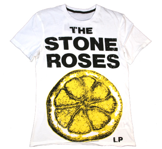 【Amplified】 The Stone Roses / Lemon Tee (White)