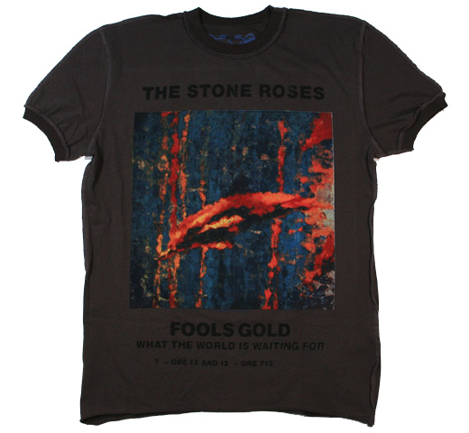 【Amplified】 The Stone Roses / Fools Gold Tee (Charcoal)