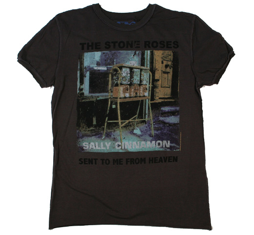 【Amplified】 The Stone Roses / Sally Cinnamon Tee (Charcoal)