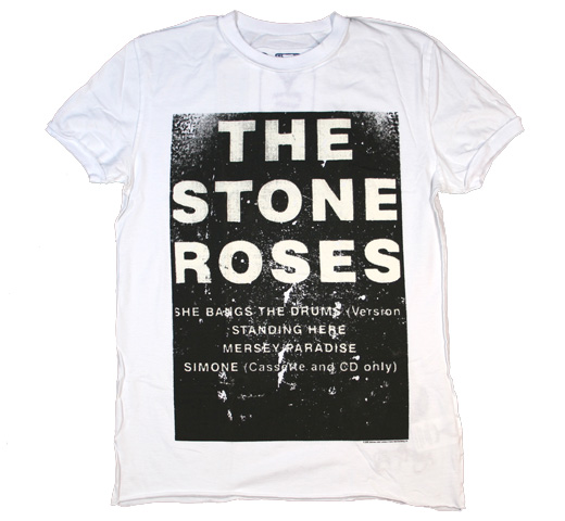 【Amplified】 The Stone Roses / She Bangs the Drums  Tee (White)