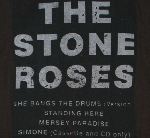 【Amplified】 The Stone Roses / She Bangs the Drums  Tee (Charcoal)