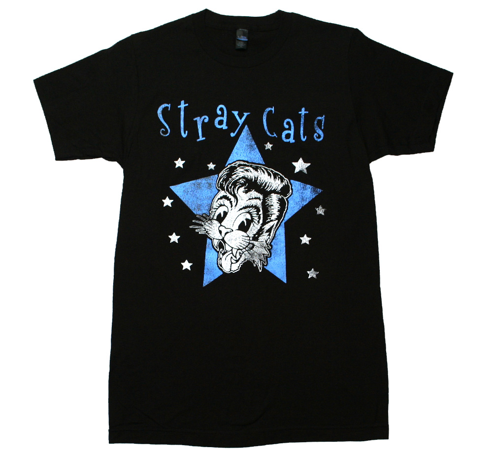 Stray Cats / Star Cat Tee (Black)
