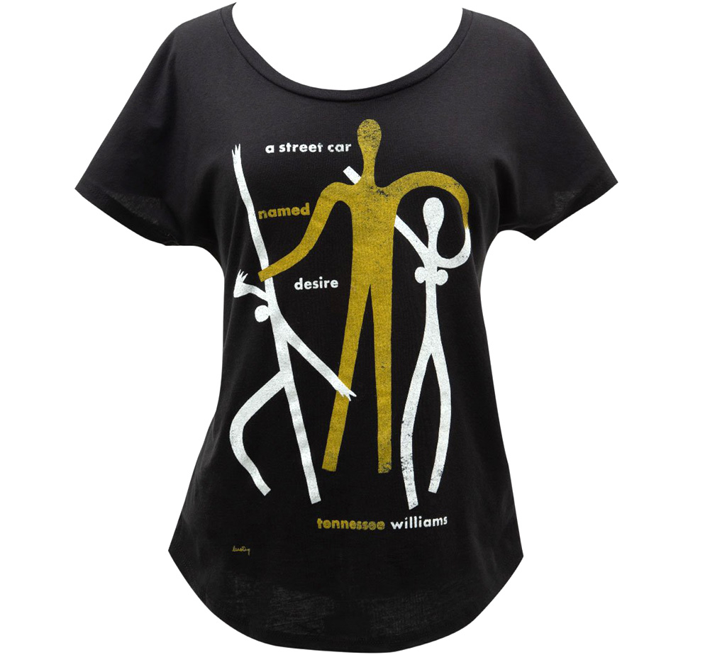 [Out of Print] Tennessee Williams / A Streetcar Named Desire Relaxed Fit Tee (Black) (Womens)