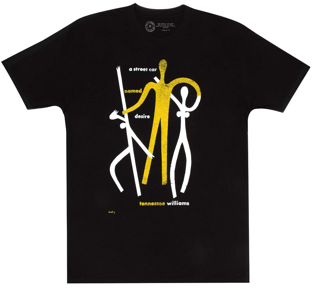 [Out of Print] Tennessee Williams / A Streetcar Named Desire Tee (Black)