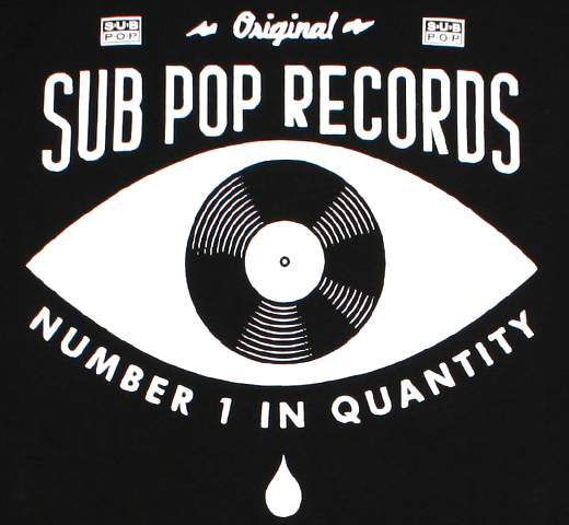 Sub Pop Records / Number 1 in Quantity Pocket Tee (Black)