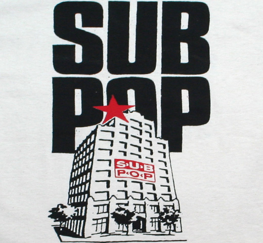 Sub Pop Records / Old Building Tee (Vintage White)