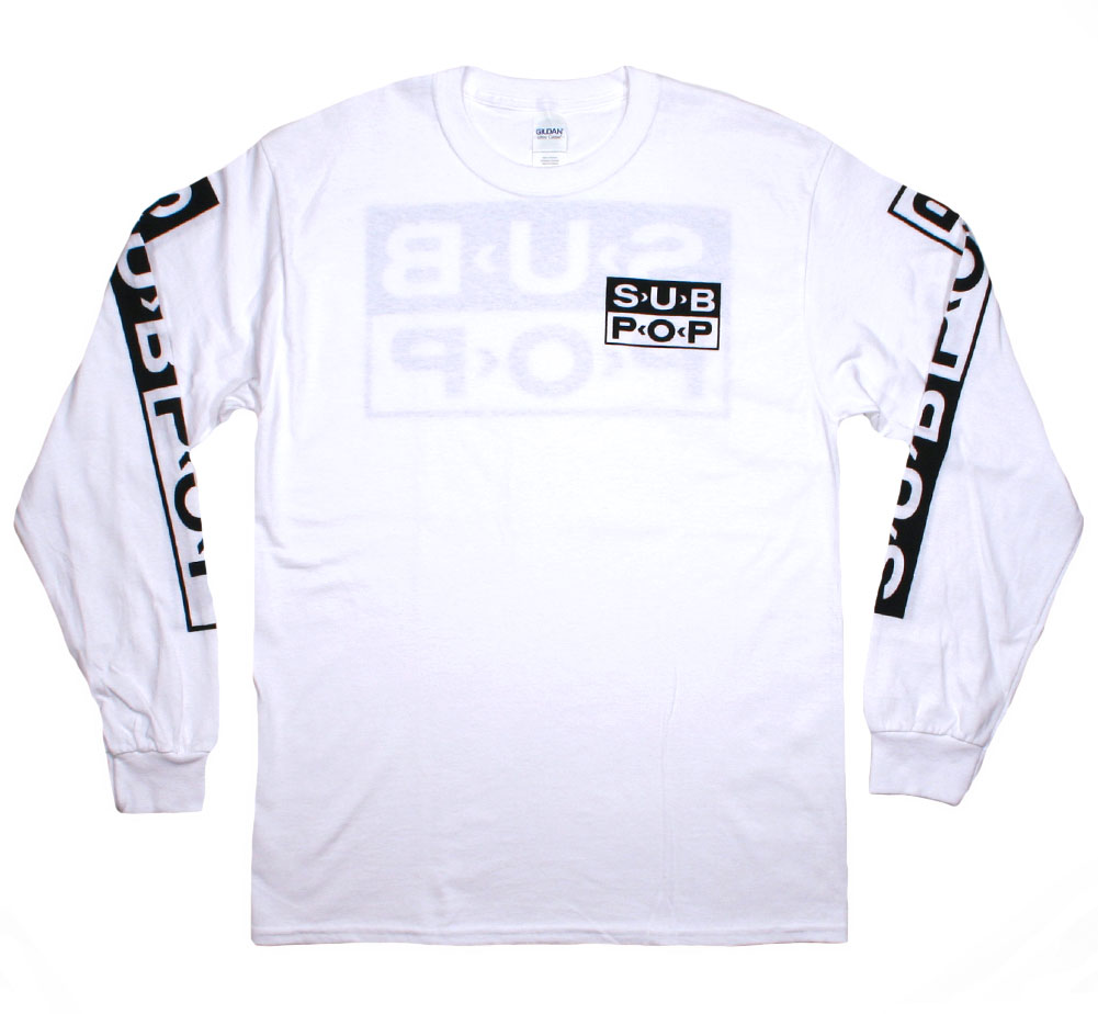 Sub Pop Records / Chest Logo Long Sleeved Tee (White)