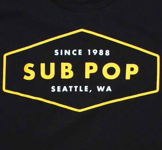 Sub Pop Records / Diamond Tag Tee (Black)