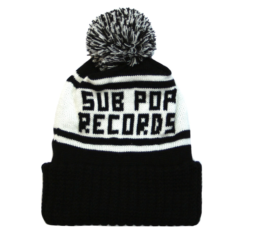 Sub Pop Records / Knit Hat (Black/White)