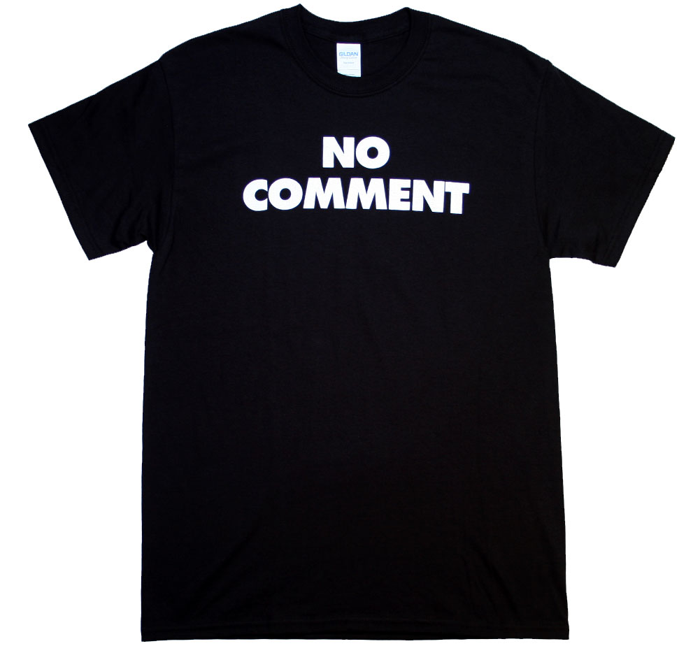 Sub Pop Records / No Comment Tee (Black)