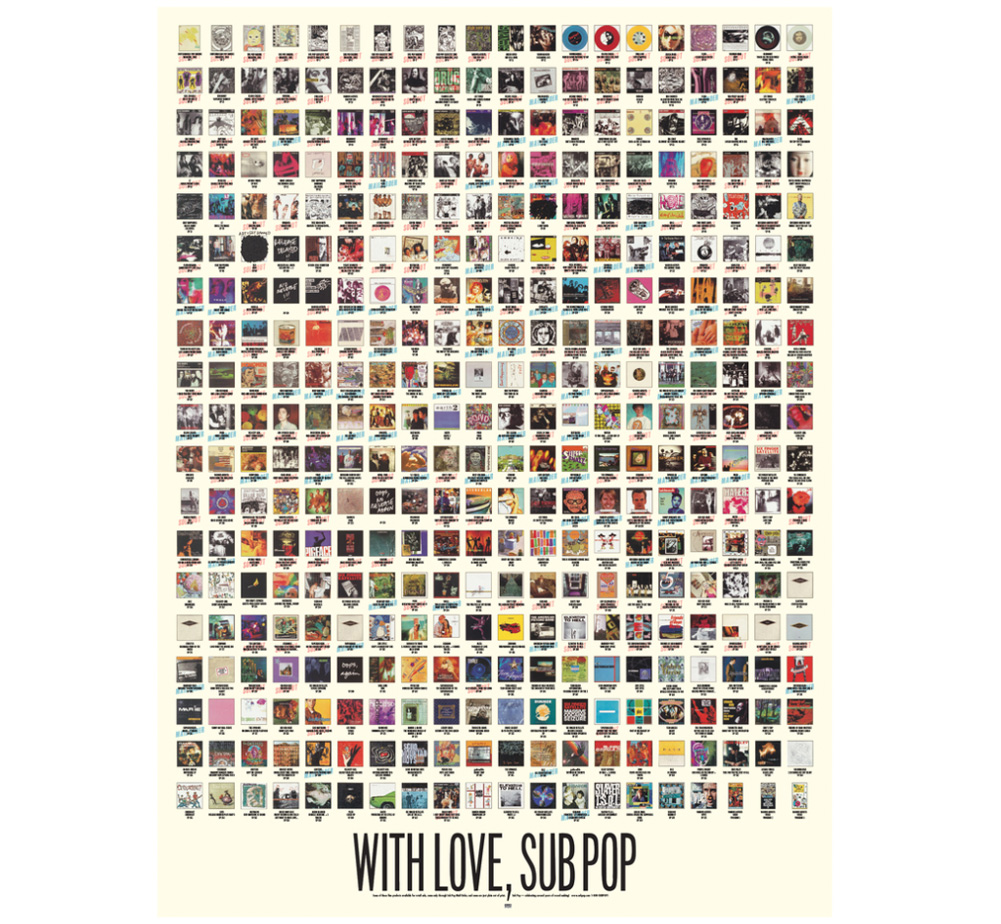 Sub Pop Records / WITH LOVE, SUB POP Poster